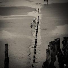 Jeux de plage (flo73400) Tags: plage enfant kid people human personne nb bw street