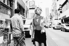 Street Style (McLovin 2.0) Tags: candid people street streetphotography girls bw monochrome urban city stripes style fashion blackandwhite melbourne australia zeiss bokeh sony rx1