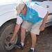 Ken checks torque on the lug nuts
