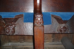 Sheffield - Ecclesfield, St Mary's Church - Wood Carvings (Glass Angel) Tags: sheffield ecclesfield stmaryschurch woodcarvings southyorkshire misericord
