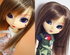 2008 vs 2018: Akiko (·Yuffie Kisaragi·) Tags: doll pullip uncanricky akiko obitsu rewigged rechipped
