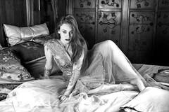 Sexy encounter (piotr_szymanek) Tags: kasia kasiat portrait studio castle blackandwhite woman milf young skinny bed boudoir legs face freckles eyesoncamera 1k 20f 5k 50f 10k