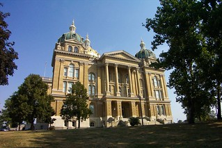 Des Moines Iowa  - Iowa State Capitol  - Three Gold Domes