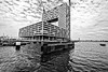 Amsterdam. (alamsterdam) Tags: amsterdam pontsteiger houthavens ij boat water cranes monochrome