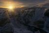 Fjaðrárgljúfur (Iván F.) Tags: fjaðrárgljúfur iceland explore exploration explorer travel tourism ice snow winter colg sunburstsunstar landscape sunset sundown atardecer sonya7r