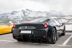 458 Speciale with a View (Nico K. Photography) Tags: ferrari 458 speciale combo supercars view mountains snow nicokphotography switzerland grimselpass