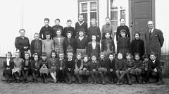 Class Photo (theirhistory) Tags: children boys kids girls school class group form jumper shorts coat jacket shoes wellies teacher wellingtons