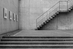 Japan-Naoshima (rwscholte) Tags: japan naoshima benesse museum art architecture abstract bw blackandwhite leicadluxtyp109 leica lines wall building concrete stairs