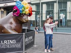 Selfie At The Bullring (kazmorris) Tags: selfie photograph phone bullring bull birmongham street