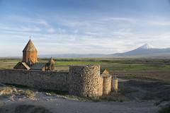 Khor Virap (wesolt) Tags: landscape travel monastery sunset architecture church cathedral mountain temple armenia natgeo bbc bbctravel ararat