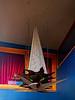 Hanging Points (Steve Taylor (Photography)) Tags: point sharp net mesh lantern heater digitalart curtains lamp window blue brown red metal newzealand nz southisland canterbury christchurch cbd city texture bar inn