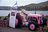 The Wee Pink Fergie (08mod) (AngusInShetland) Tags: ferguson tractor shetlandclassicmotorshow2018 pinkfergie minoltadynax7000i fujichromevelvia100 fuji fujichrome velvia canoscan5600f 35mm film lerwick shetland scotland classiccar vintagecar vehicle car road clickimincentre aberdeenroyalinfirmary ward309breastpatientfund cancer fundraiser wepinkfergie