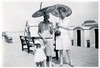 VINTAGE SEASIDE FASHION.SOLVED SEE BELOW. (JOHN MORGANs OLD PHOTOS.) Tags: vintage found photo shanklin iow isleofwight