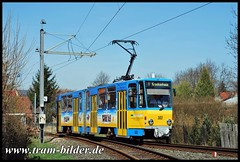 303-2010-04-07-Gleisdreieck Krankenhaus (steffenhege) Tags: gothawagen thüringerwaldbahn waldbahn strasenbahn streetcar tram tramway überlandbahn ckd kt4d 303