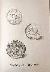 EDIM2018 #28 Some coins (chando*) Tags: croquis edim2018 sketch