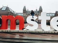 (maycambiasso98) Tags: winter walk discover holanda netherlands happiness happy smile high girl me travel visit colour color letter museum iamsterdam rijksmuseum amsterdam