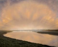 Dawn Skies (adrians_art) Tags: patterns skies clouds sunrise dawn rivers water reflections hightide mist fog uk england