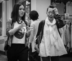 Gibson girl (Bill Morgan) Tags: fujifilm fuji xt2 kamlan 50mm f11 bw jpeg acros lightroomclassic street kichijoji tokyo