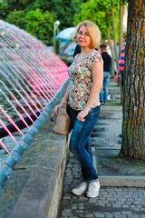 IMG_2404b (volodyainteres) Tags: portrait people posing porträt portraiture portrét portret person park woman women портрет жінка женщина вода вулиця фонтан фотосесія water