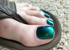 One more great closeup of this amazing polish (toepaintguy) Tags: male guy men man masculine boy nail nails fingernail fingernails toenail toenails toe foot feet pedi pedicure sandal sandals polish lacquer gloss glossy shine shiny sexy fun daring allure gorgeous colors by larowe emerald illusion green blue duochrome