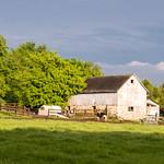 White Barn & Rain Clouds thumbnail