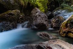Rock and Silky Water (IlMorze) Tags: 1855 bergamo fuji italy vertova xt20 acqua cascate fiume lendscape longexposure natura river rocce water wild italia