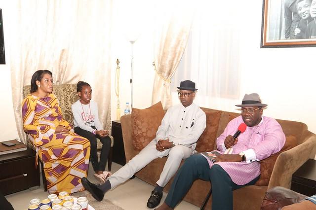 HSDickson- Pays condolence visit to SSG Mr. Kemela Okara 7th June 2018