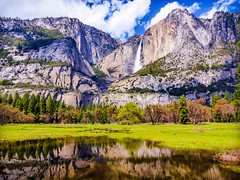Springtime in Yosemite National Park (Cathy Lorraine) Tags: yosemite nationalpark california mountains waterfalls trees springtime clouds outdoors nature beautiful spring coth5