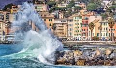 Wave!! (stefanobarabino) Tags: seaside case liguria pegli mare rough sea wave italy italia genova