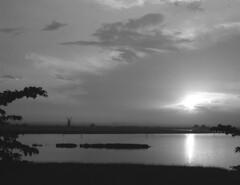Breydon Water sunset (DH73.) Tags: breydon water burgh castle berney arms norfolk sunset xo yellowgreen filter 6x7 rangefinder camera 100mm f35 mamiya press lens foma fomapan 100 ilford microphen 11 9mins 68°f