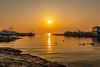 Hazy sun (dayonkaede) Tags: sun sea ocean setting sunrise boat solar rock wave nikon d750 240700mm f28 landscape nature