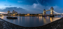 Tower Bridge and the City of London skyline (Joe Dunckley) Tags: 22bishopsgate 30stmaryaxe britain british cityoflondon england english gherkin greatbritain leadenhallbuilding london riverthames squaremile thescalpel towerbridge toweroflondon uk unitedkingdom architecture barge barges boat bridge building castle city cityscape construction crane dusk longexposure lowtide night panorama river skyline skyscraper sunset tower towercrane towercranes transport transportation water