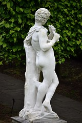 Unknown artist - Pan with Pipe, Kew Palace, Royal Botanic Gardens, Kew, Surrey, May 2014 - 7 (ketrin1407) Tags: pan statue sculpture marble pipe flute woodwind nude naked sensual erotic mythology unknownartist unknowndate kew kewgardens royalbotanicgardens surrey