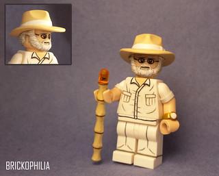 Custom lego Jurassic Park John Hammond
