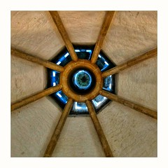 Ceiling rose, Glastonbury Abbey (Develew) Tags: glastonbury abbey somerset england kitchen roof ceiling boss rose architecture