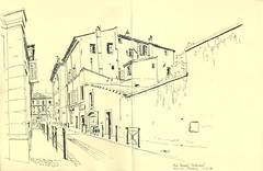 Rue Cabassol - Aix-en-Provence (lolo wagner) Tags: rencontre usk france aixenprovence croquis sketch sketchcrawl