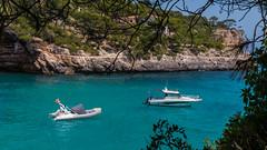 Cala Santanyi (achim-51) Tags: wasser boat calasantanyi himmelblau blau mallorca balearen panasonic lumix dmcg5