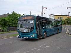 Notts&Derby 613 Roundhouse Road (Guy Arab UF) Tags: nottsampderby 613 fj03vwb scania l94ub wright solar debranded bus roundhouse road derby derbyshire wellglade group buses wellgladegroup
