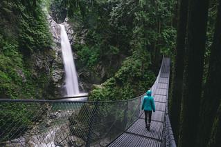 Suspension Bridge to Cascade Falls