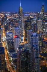 Chicago (karinavera) Tags: city longexposure night photography cityscape urban ilcea7m2 sunset chicago