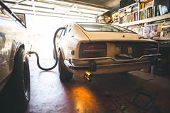 No More Fumes (Shutter Theory) Tags: jdm nissan datsun fumes no more 240z fairlady garager garage garagesunset