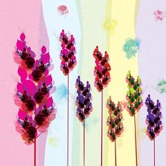 Flower Pattern (DobingDesign) Tags: flowers pattern illustration colours doodle drawing leafy organic environmental watercolour pollen print flower