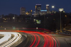 Minneapolis (selo0901) Tags: minneapolis minnesota highway 7 light trails wooddale avenue