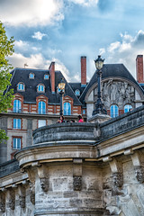 along the Seine (sumnerbuck) Tags: france paris architecture seine river color