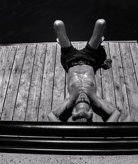 Summerscape 2018 #  12  ... ; (c)rebfoto (rebfoto ...) Tags: summerscape rebfoto monochrome sunbathing sunsoaking blackandwhite relaxing