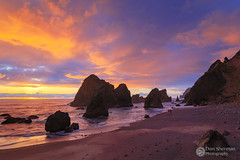 Road's End Sky Show (Dan Sherman) Tags: oregoncoast ruggedcoast beach oregon sunset clouds pacificocean water sky colorfulsunset lincolncity pnw coast pacificcoast waves
