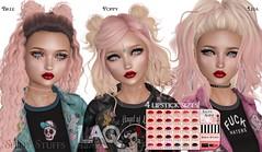 NEW! Sassy Shine lipsticks for LAQ (Tarani Tempest) Tags: shinystuffs secondlife laq