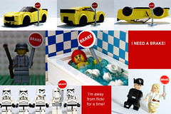 Pulling The Brake (y20frank) Tags: lego minifigures brake pause