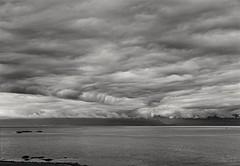 Salish clouds (F0t0graphy) Tags: clouds monochrome bw sea salishsea victoria britishcolumbia nikon
