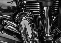 Motorcycle Chrome Reflection (that_damn_duck) Tags: nikon blackwhite monochrome engine exhaustpipe chrome bw blackandwhite lines